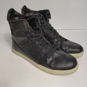 Carbon Element Black High Top Sneakers